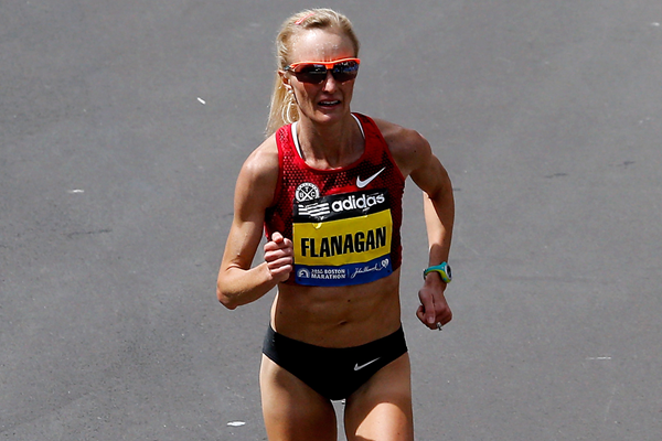 Shalane Flanagan in action at the Boston Marathon (Getty Images)
