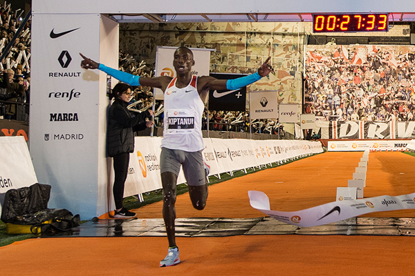 Erick Kiptanui wins the San Silvestre Vallecana in Madrid (Organisers)