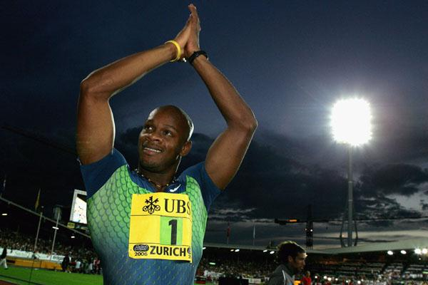 Asafa Powell after yet another 9.77 World record (Getty Images)