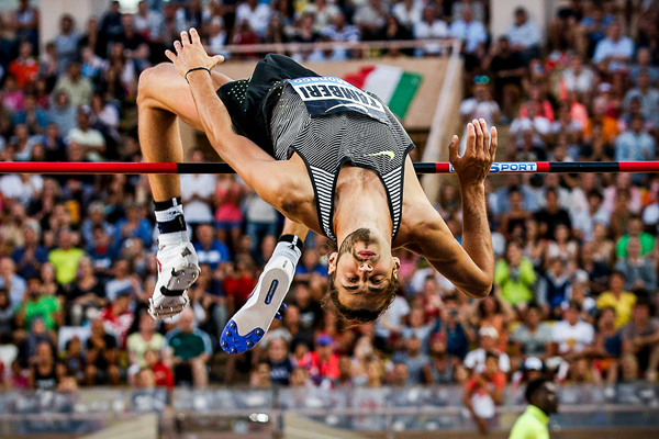 Gianmarco Tamberi in the high jump at the IAAF Diamond League meeting in Monaco (Philippe Fitte)