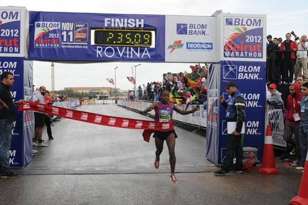 Saeda Kedir triumphs in Beirut (Beirut Marathon organisers)
