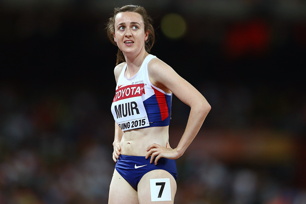 Laura Muir after the 1500m at the IAAF World Championships Beijing 2015 (Getty Images)