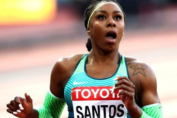 Rosangela Santos in the 100m at the IAAF World Championships London 2017 (Getty Images)