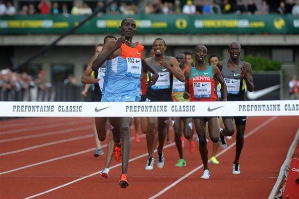 Asbel Kiprop wins Bowerman Mile in Eugene (Kirby Lee - Image of Sport)