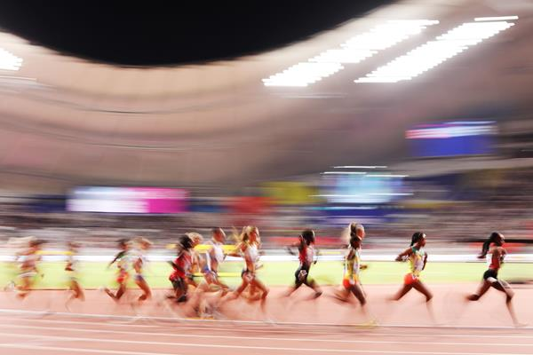Action in the final of the women's 5000m at the IAAF World Championships Doha 2019 (Getty Images)