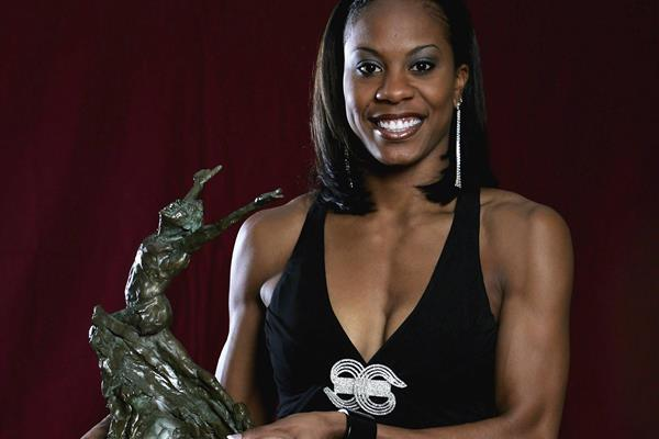 Sanya Richards-Ross with her 2006 Athlete of the Year award (Getty Images)