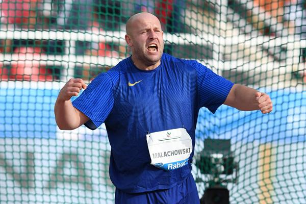 Piotr Malachowski in the discus at the IAAF Diamond League meeting in Rabat (Kirby Lee)