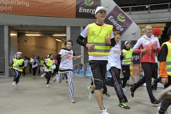 Anna Rogowska running in the Ergo Arena (fotobank.pl / UMS)