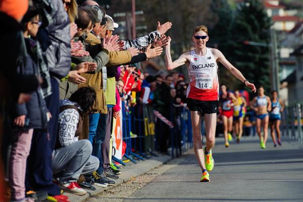 Tom Bosworth at the 2016 Dudinska 50 (Pavol Uhrin / Fotosport)