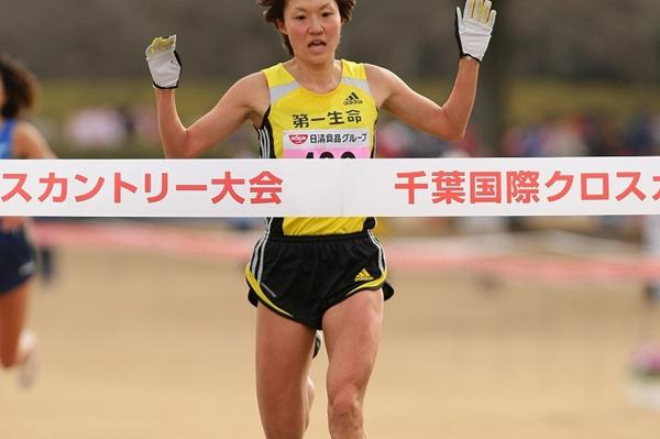 Misaki Katsumata takes the 6km title at the Chiba Cross (Yohei Kamiyama (Agence Shot))