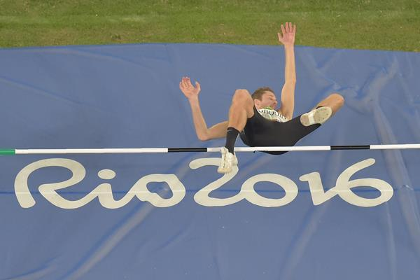 Derek Drouin at the Rio 2016 Olympic Games (AFP / Getty Images)