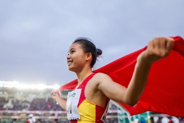 China's Tan Qiujiao at the IAAF World U18 Championships Nairobi 2017 (Getty Images)