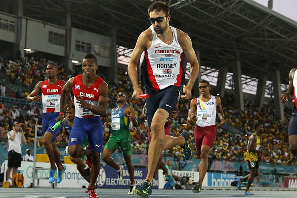 Britain's Martyn Rooney in the 4x400m at the IAAF World Relays, Bahamas 2014 (Getty Images)