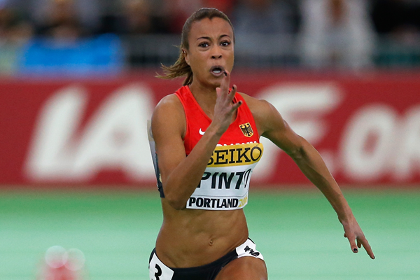 Tatjana Pinto in the 60m at the IAAF World Indoor Championships (Getty Images)
