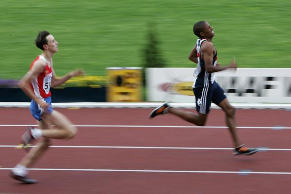 Christopher Clarke of Great Britain wins the 400m final (Getty Images)