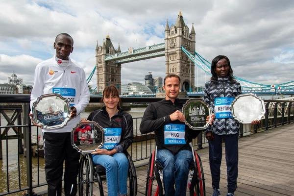 Eliud Kipchoge And Mary Keitany Win World Marathon Major Series Titles And  $250,000 Prize Money ...