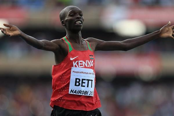 Leonard Bett wins the boys' 2000m steeplechase at the IAAF World U18 Championships Nairobi 2017 (Getty Images)