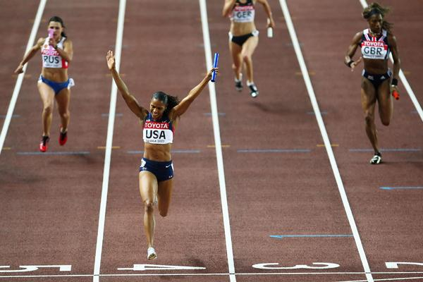 USA wins the Women's 4x100m Relay Final (Getty Images)