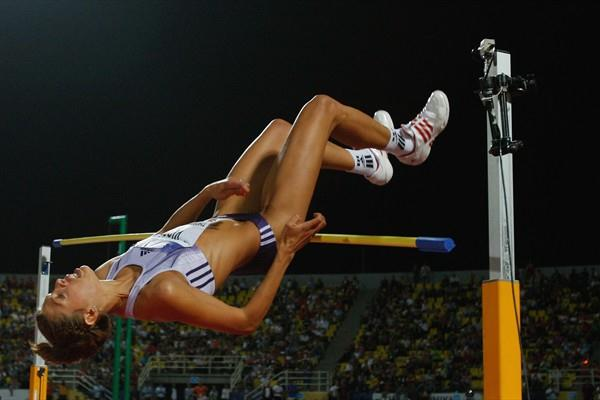 Blanka Vlasic nudges the bar off on her final attempt at 2.10m (Getty Images)
