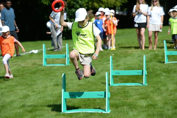 Children in action at the IAAF / Nestlé Kids' Athletics demonstration in Vevey, Switzerland (Jiro Mochizuki)