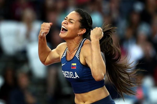 Robeilys Peinado in the pole vault at the IAAF World Championships London 2017 (Getty Images)