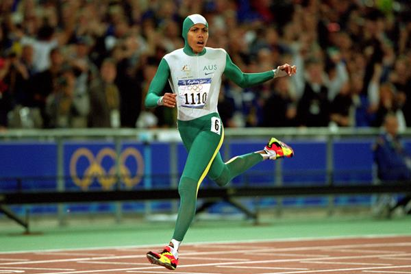 Cathy Freeman wins the 400m at the 2000 Olympic Games in Sydney (Getty Images)