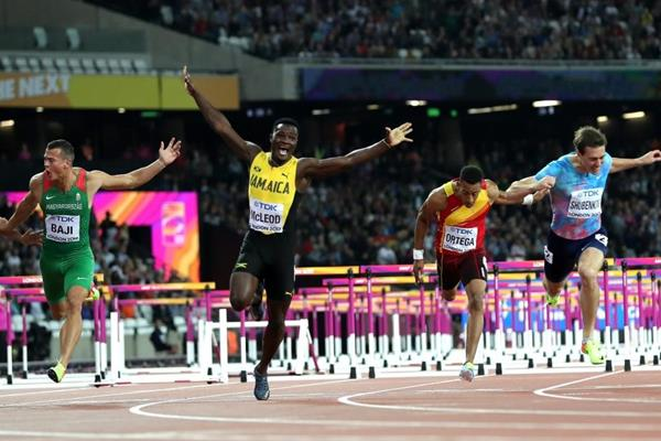 Omar McLeod at the IAAF World Championships London 2017 (Getty Images)