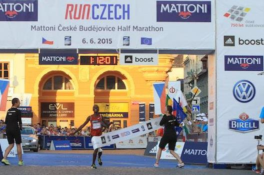 Rose Chelimo wins at the 2015 Ceske Budejovice Half Marathon (organisers)