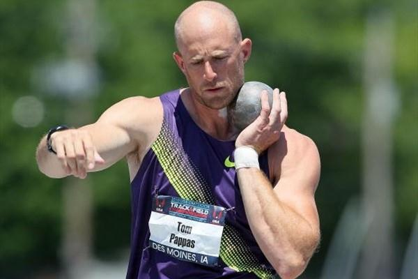 Tom Pappas putting the Shot in the Decathlon at the 2010 USATF Nationals (Getty Images)