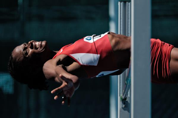 Chaunte Lowe at the 2016 Ibero-American Championships in Rio (Getty Images / AFP)