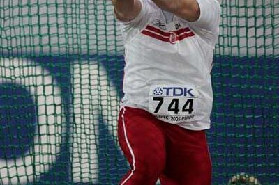 Szymon Ziolkowski of Poland in action in the men's Hammer Throw final (Getty Images)