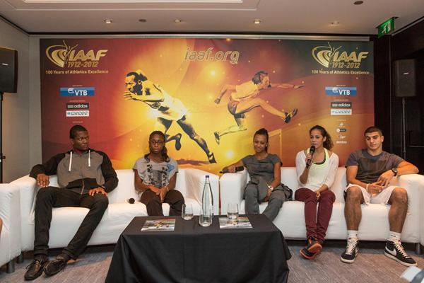 Keshorn Walcott, Anthonique Strachan, Ana Peleteiro, Angelica Bengtsson and Adam Gemili in Barcelona (Philippe Fitte)