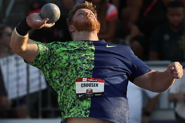 Ryan Crouser in action in Des Moines (Getty Images)