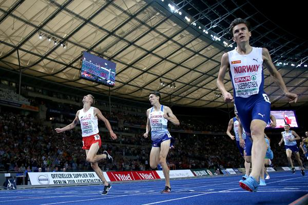Jakob Ingebrigtsen wins the 1500m at the European Championships (Getty Images)