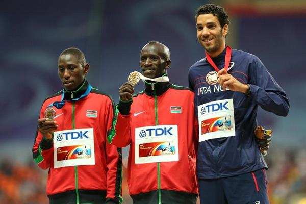Mens 3000m SC Medal Ceremony at the IAAF World Athletics Championships Moscow 2013 (Getty Images)
