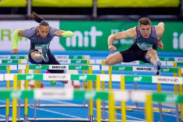 Pascal Martinot-Lagarde and Andy Pozzi in Karlsruhe (Andreas Arndt)