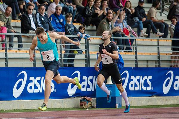 Pawel Wiesiolek in the decathlon 400m at the Multistars meeting in Florence (Organisers / SAB Photo)