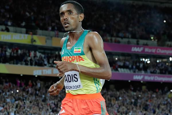 Ethiopia's Abadi Hadis in action at the World Championships London 2017 (Getty Images)