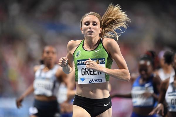 Hanna Green wins the 800m at the IAAF Diamond League meeting in Paris (Gladys Chai von der Laage)