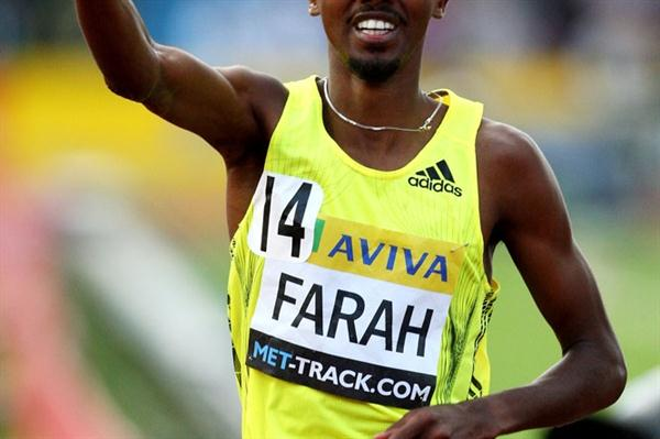 Mo Farah after his 13:09.14 win in London (Getty Images)