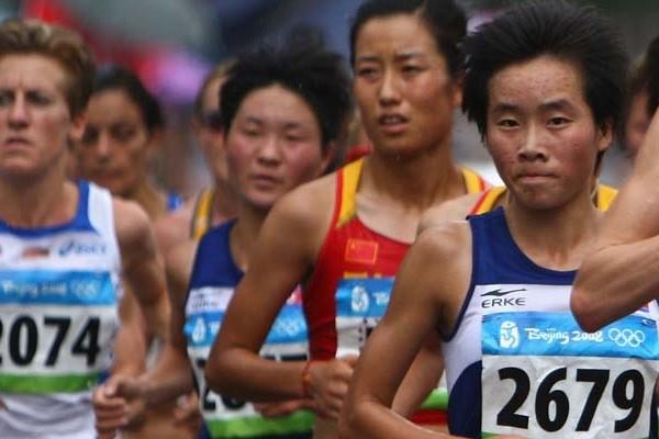 Kim Kum Ok (2679) at the 2008 Olympic marathon. After finishing second in 2009, she took top honours at the Mangyongdae Prize International Marathon in Pyongyang this year (Getty Images)