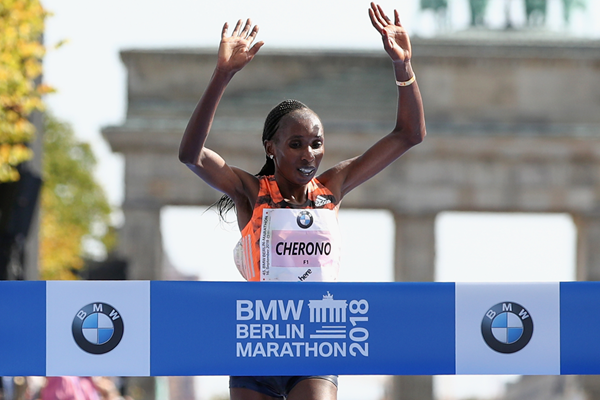 Gladys Cherono wins the Berlin Marathon (Getty Images)