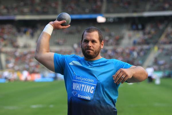 Ryan Whiting at the 2013 IAAF Diamond League final in Brussels (Jean-Pierre Durand / IAAF )