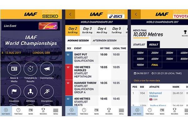 IAAF app 2017 ()