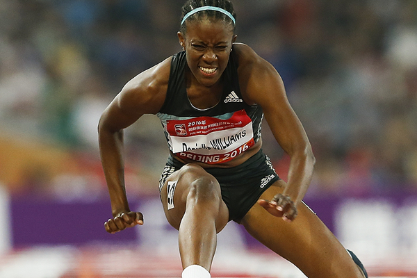 Danielle Williams in the 100m hurdles at the IAAF World Challenge meeting in Beijing (Getty Images)