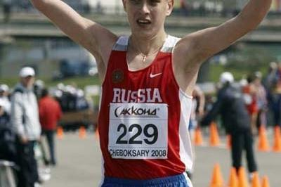 Aleksey Bartsaykin of Russia wins the Junior Men's 10km race (Getty Images)