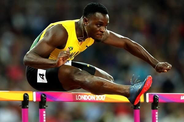 Omar McLeod wins the 110m hurdles at the IAAF World Championships London 2017 (Getty Images)