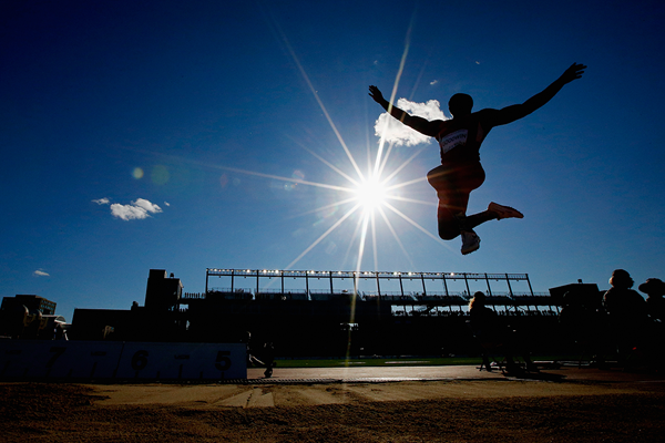 USA's Marquise Goodwin in action in the long jump (Getty Images)