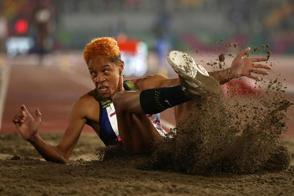 Yulimar Rojas leaps a 15.11m Pan-American Games record in Lima (Getty Images)