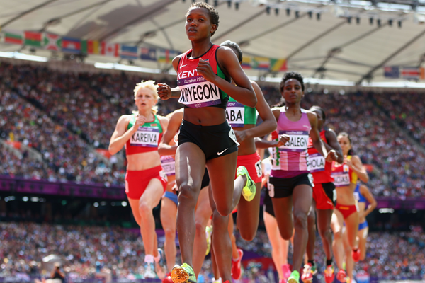 Faith Kipyegon in the 1500m at the London 2012 Olympic Games (Getty Images)